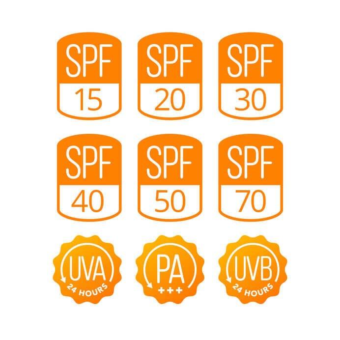 防曬係數指標PA、SPF