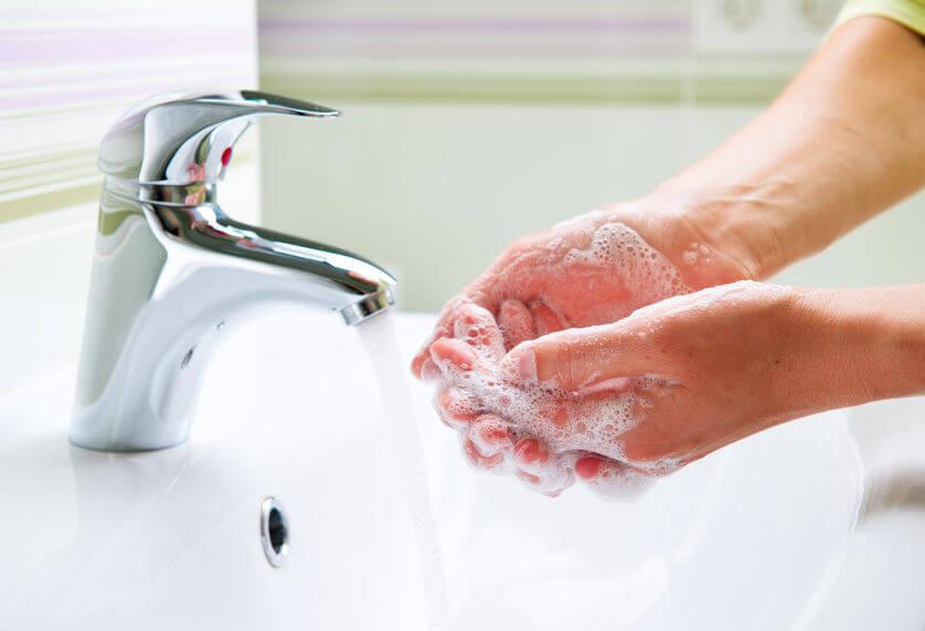 長癤時要勤洗手